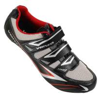 Venzo Bicycle Men's or Women's Road Cycling Riding Shoes - 3 Straps- Compatible with Peloton Shimano SPD & Look ARC Delta Perfect for Indoor Spin Road Racing Bikes