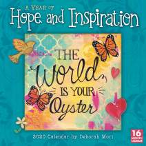 A Year of Hope and Inspiration 2020 Wall Calendar: The World is Your Oyster