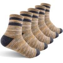 Women's Hiking Walking Socks, FEIDEER Outdoor Recreation Socks Wicking Cushion Crew Socks