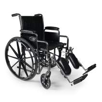 "Graham-Field Everest & Jennings Traveler SE Wheelchair, Detachable Desk Arms & Elevating Legrests, 20x16"" Seat, Silvervein Color"