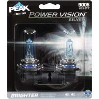 PEAK Power Vision Silver Automotive Performance Headlamp, 9005 HB3, 2 Pack