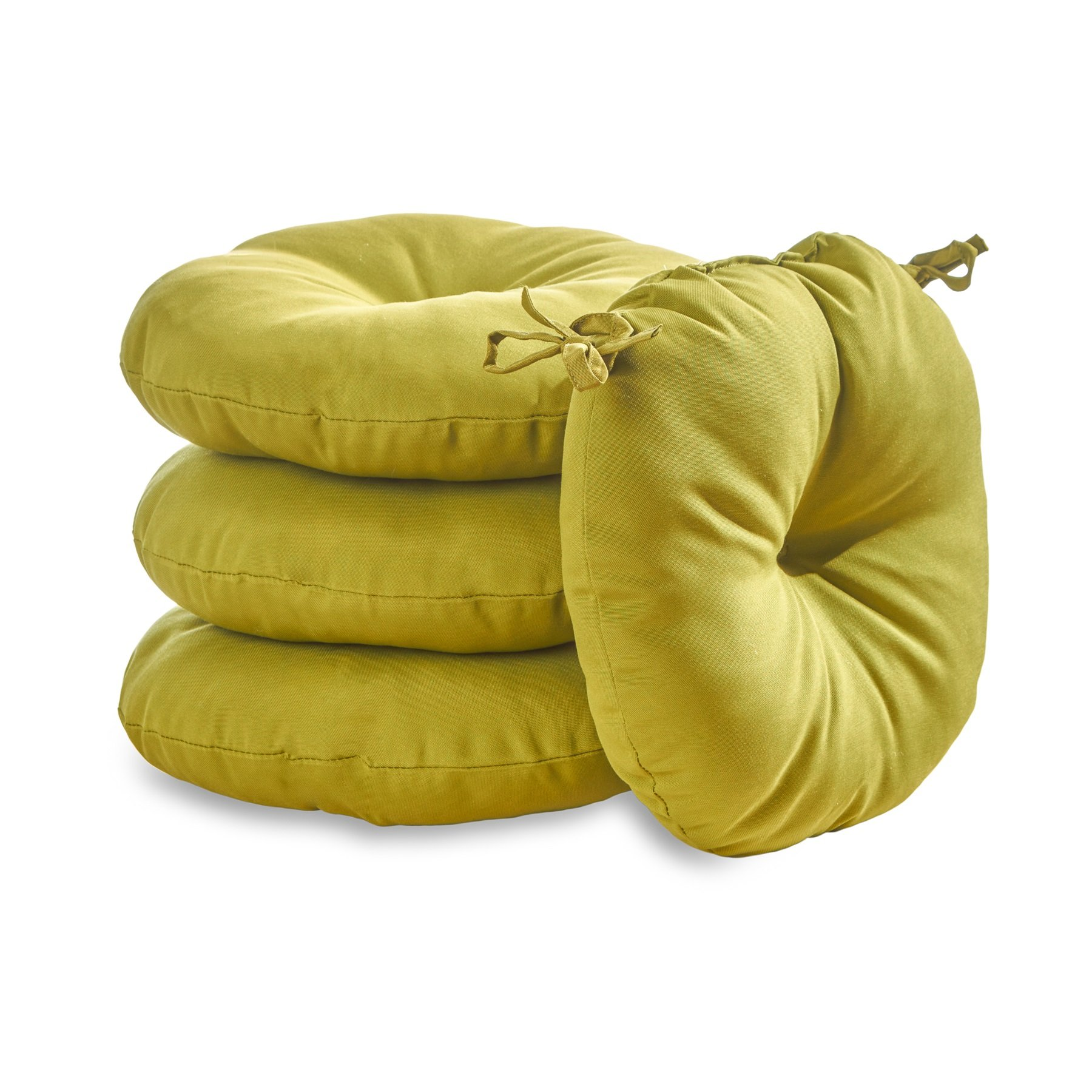 Greendale Home Fashions 18 in. Round Outdoor Bistro Chair Cushion (set of 4), Kiwi