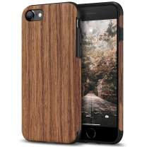 Tasikar Compatible with iPhone SE 2020 Case/iPhone 7 Case/iPhone 8 Case Easy Grip with Wood Grain Design Slim Hybrid Case (Redwood)