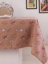 Table Cloth, 100% Cotton, Rectangular Table Cloth of Size 52X70 Inch, Eco - Friendly & Safe, Autumn Leaves on Brown Skies Design for Kitchen