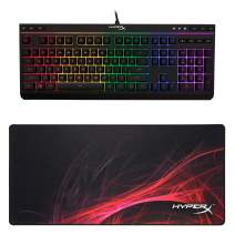 HyperX Alloy Core RGB - Membrane Gaming Keyboard and HyperX Fury S Speed Edition - XL Pro Gaming Mouse Pad Gaming Bundle