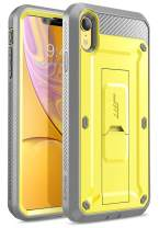 SupCase Unicorn Beetle Pro Series Case Designed for iPhone XR, with Built-in Screen Protector Full-Body Rugged Holster Case for iPhone XR 6.1 Inch (2018 Release) (Yellow)