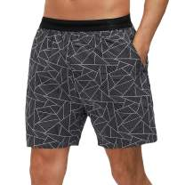 Libin Men's 5 Inch Inseam Running Shorts Quick Dry Fit Workout Gym Athletic Shorts with Brief Liner,Zip Pocket