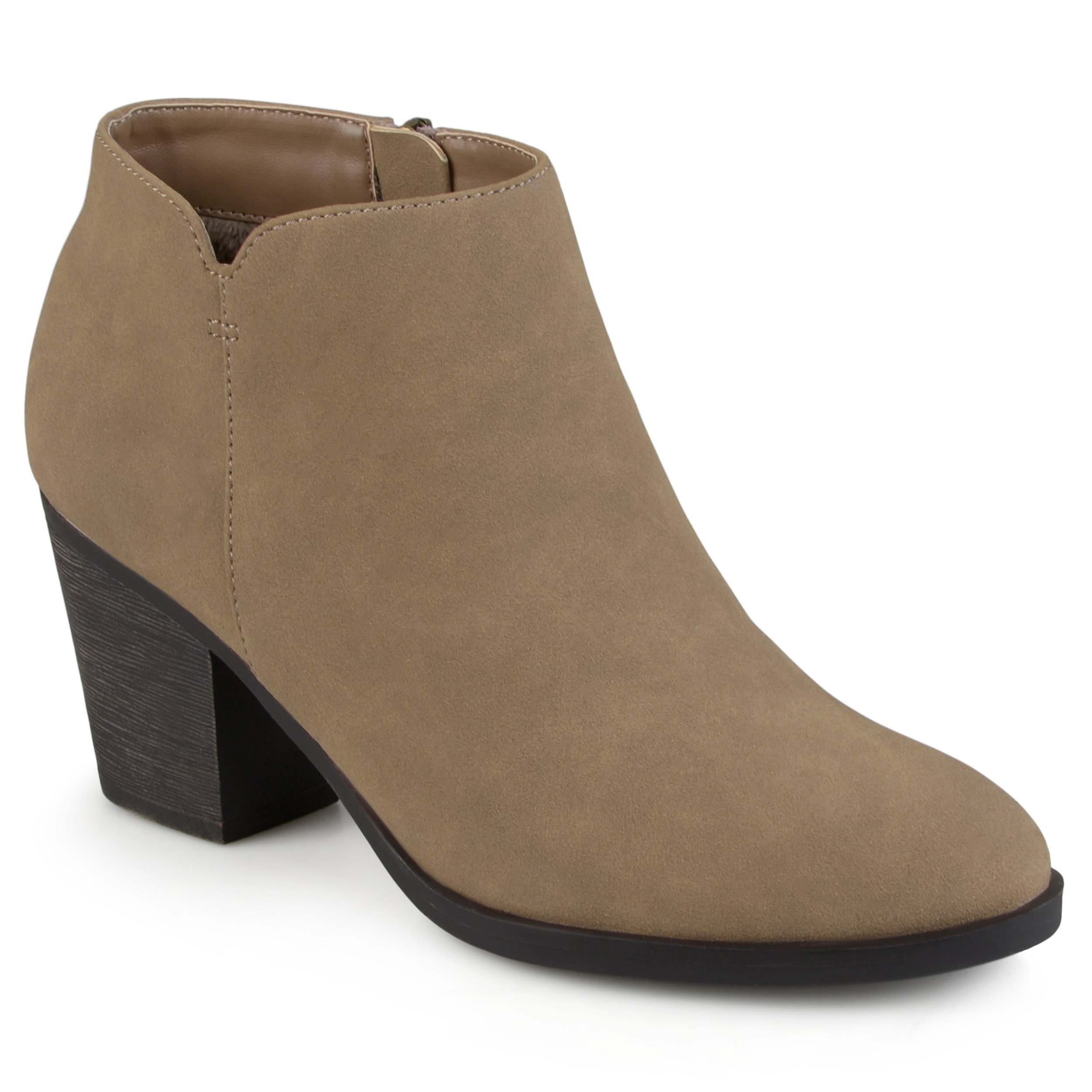 Journee Collection Womens High Heeled Round Toe Chunky Heel Ankle Booties
