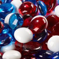 Fireworks - Blended Fire Glass Beads for Indoor and Outdoor Fire Pits or Fireplaces | 10 Pounds | 3/4 Inch