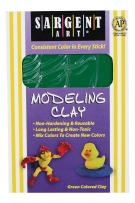 Sargent Art 22-4066 1-Pound Solid Color Modeling Clay, Green