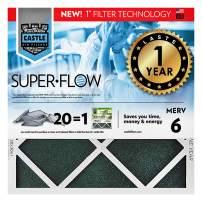 "No Toil Castle, One-Year HVAC Furnace Filter, MERV 6, 20"" x 20"" x 1"""