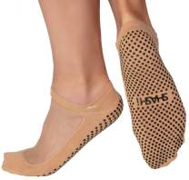 Shashi Classic Women's Mesh Grip Socks Pilates Barre Yoga Dance Non-Slip Socks