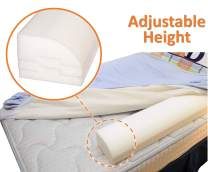Smooth Transition Adjustable Height Bed Rail for Toddlers and Kids; Non-slip, Premium Foam; Washable; Made in the USA