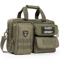 TBG - Mens Tactical Diaper Bag for Dads with Included Stroller Straps. Organized