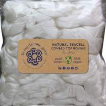 Seacell Fiber for Spinning Blending Dyeing. Super Soft Organic Vegan Combed Top Roving