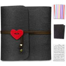 ONEDERZ Photo Album 4x6, Black Pages Scrapbook, Love Photo Book Felt Picture Album Wedding Photo Albums for 3 Ring Binder with Scrapbooking Supplies