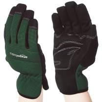 AmazonBasics Women's Work or Garden Gloves, Green, L