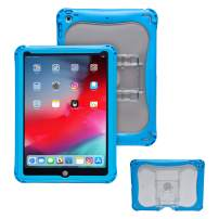 Brenthaven Edge 360 Case Designed for The New Apple for Commercial, Business and Office -Gray, Durable, Rugged Protection from Impact and Compression (Apple iPad 9.7, Blue)
