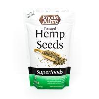 Toasted Hemp Seeds with Sea Salt, Organic, 12oz (2-Pack)