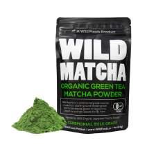 Organic Matcha Green Tea Powder, Wild Matcha #2 Ceremonial Grade, Authentic Japanese Matcha Grown In Japan, JAS Certified Organic (Two - 4 ounce)