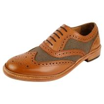 DLT Men's Genuine Imported Leather with Rubber Sole Goodyear Welted Oxford Dress Shoes