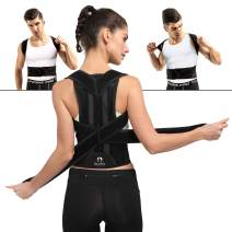 Comfortable Back Brace Posture Corrector for Men and Women Adjustable Support Brace Provides Lumbar Support XL