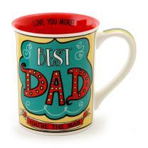 "Our Name is Mud ""Best Dad"" Stoneware Coffee Mug, 16 oz."