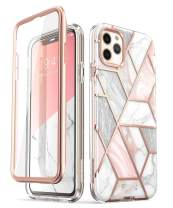 i-Blason Cosmo Series Case for iPhone 11 Pro Max 2019 Release, Slim Full-Body Stylish Protective Case with Built-in Screen Protector (Marble)
