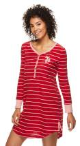 U.S. Polo Assn. Womens Long Sleeve Dorm Pajama Sleep Lounge Nightshirt