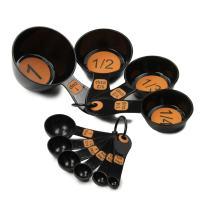 Chef Craft Easy to Read Plastic Measuring Cup Set, 10 Piece, orange