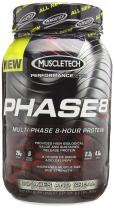MuscleTech Phase 8 Protein Powder, Multi-Phase 8-Hour Protein Formula, Cookies and Cream, 2.0 lbs (907g)