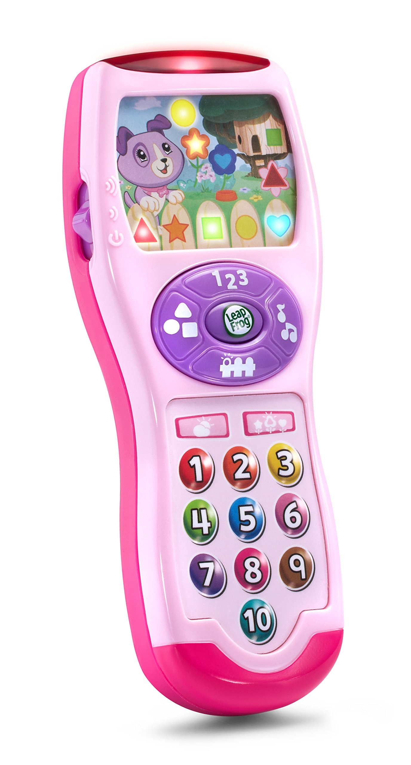 LeapFrog Violet's Learning Lights Remote, Pink, Great Gift for Kids, Toddlers, Toy for Boys and Girls, Ages Infant, 1, 2, 3