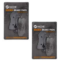 NICHE Brake Pad Set For Harley-Davidson Street Rod Glide Road King Front 41854-08 Rear Semi-Metallic 2 Pack