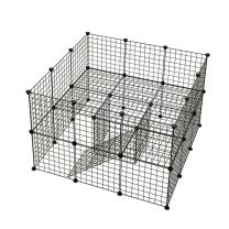 KOUSI Small Pet Pen Bunny Cage Dogs Playpen Indoor Out Door Animal Fence Puppy Guinea Pigs, Dwarf Rabbits (Black, 36 Panels)
