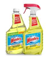 Windex Multi Surface Flat Cap 32 oz With Cleaner and Disinfectant Spray Bottle, Citrus Fresh Scent, 23 fl oz