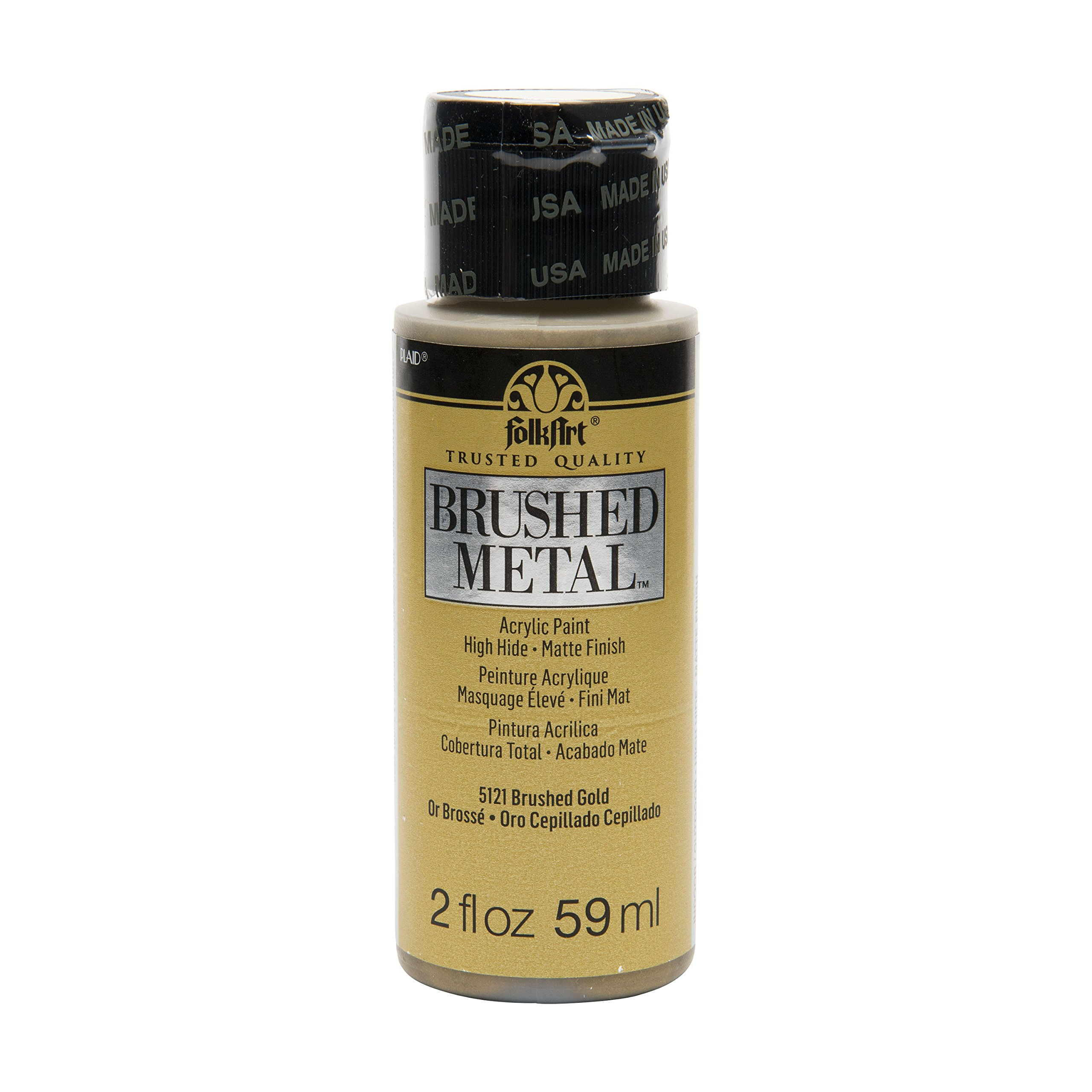 FolkArt Brushed Metal Paint in Assorted Colors (2 oz), Gold