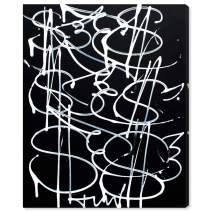 """The Oliver Gal Artist Co. Abstract Wall Art Canvas Prints 'Money Fly' Home Décor, 24"""" x 28"""", Black, White"""