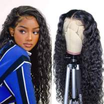 Lace Front Wigs Human Hair Wigs For Black Women 4x4 Human Hair Lace Front Wigs Pre Plucked Water Curly Wave Lace front wigs 150% Density Full 20inch