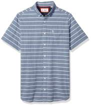 Original Penguin Men's Big and Tall Short Sleeve Stripe Button Down Shirt
