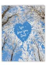NobleWorks, Sky Hearts - Jumbo Birthday Card for Dad, Fathers (8.5 x 11 Inch) - Snow Landscape Card for Bdays, with Envelope J3507BFG-US