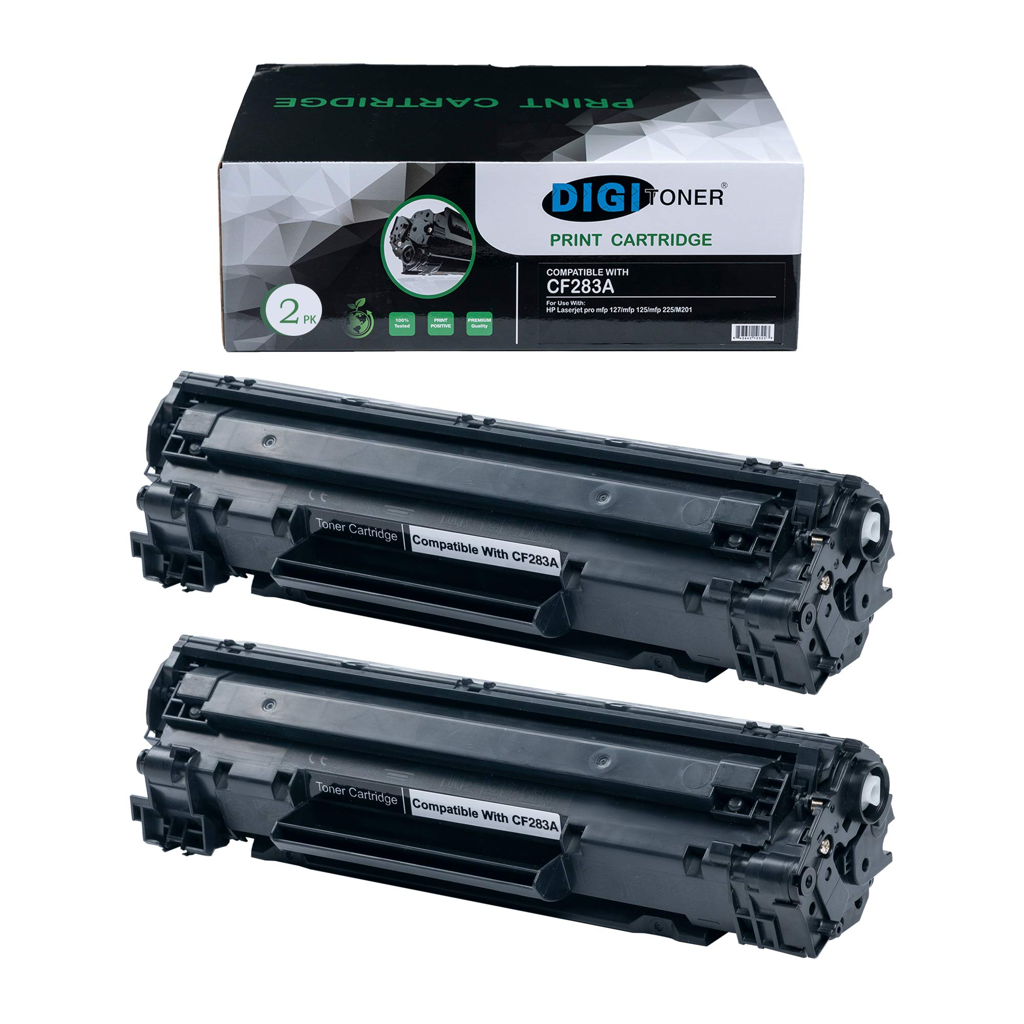 DIGITONER Compatible HP CF283A Toner Cartridge – CF283A High Yield Toner Cartridge Replacement for HP Laser Printer – Black [2 Pack]