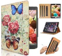 IPad 6th Generation Case, Ipad Air 1st Generation Case,for Model A1893/A1954 A1822/A1823 A1474 A1475 A1476 (Blue Butterfly)