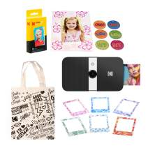 KODAK Smile Instant Print Digital Camera (Black/White) Magnetic Photo Frames Kit