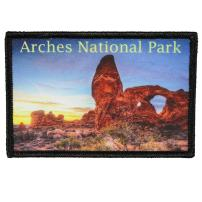 Arches National Park Patch Travel Utah Sand Dye Sublimation Iron On Applique