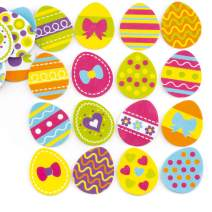 Baker Ross Ltd Easter Egg Foam Stickers (Pack of 125) Spring Self Adhesive Puffy Scrapbook Stickers Themed Embellishments for Kids Arts and Crafts