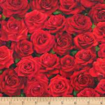 Robert Kaufman Imaginings Flowers Rose, Fabric by the Yard