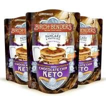 Birch Benders Keto Chocolate Chip Pancake & Waffle Mix with Almond/Coconut & Cassava Flour, Just Add Water, 3 Count