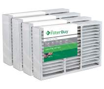 FilterBuy 19x20x4 / 19x20x5 Bryant Carrier FAIC0021A02 FILBBFNC0021 FILCCFNC0021 Compatible Pleated AC Furnace Air Filters (MERV 8, AFB Silver). Fits air cleaner models FNCCAB-0021 FNCCAB0021. 4 Pack.