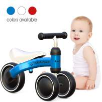 Luddy Baby Balance Bike 1 Year Old First Birthday Gift Ride on Toys for Kids