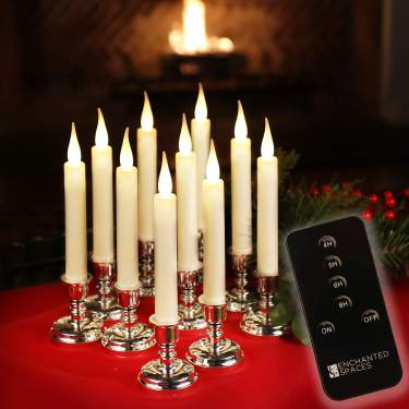 20 TruGlow Red Wax Battery Operated Flameless LED Christmas Tree Candles
